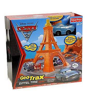 Brand New Fisher-Price GEO TRAX Disney PIXAR Cars 2 Eiffel Tire Crash (2-7)