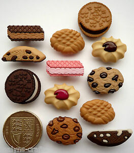 Biscuit Jar Novelty Craft Buttons Cookies Chocolate Sweets