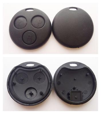 Auto Schlüssel Gehäuse f. Smart 450 Funk Fernbedienung Zündschlüssel 3 Tasten Fernbedienung Autoschlüssel