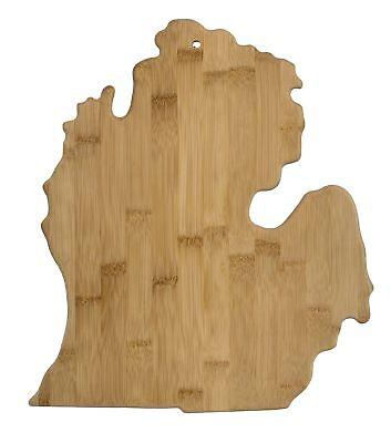 Michigan Board (Totally Bamboo - Michigan Board - 13-1/4 x 11-3/4 x 5/8 in)