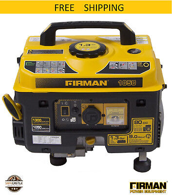 Firman Performance Series P01001 Gas Powered 10501350 Watt Portable Generator