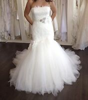 Enzoani emporia light ivory wedding dress-size 8 $375