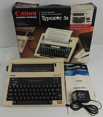 Canon Typestar 5r Portable Electronic Typewriter In The Original Box