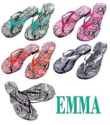 Women Shoes Leather Like Flip Flops T Strap Thongs Beach Sandals Slipper - SALE