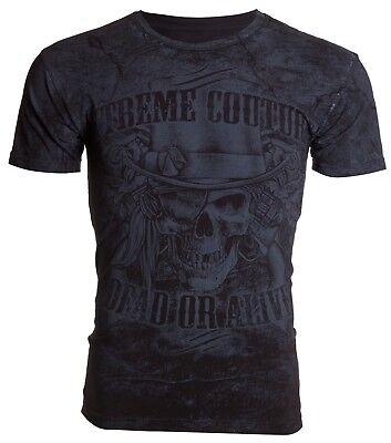 XTREME COUTURE by AFFLICTION Mens T-Shirt DEAD OR ALIVE Skull Guns Biker UFC $40 (Dead Alive T Shirt)