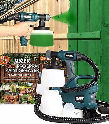 700W Electric Paint Sprayer Gun Kit Fence Bricks Decking Garden Outdoors