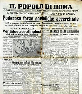 """"""" IL POPOLO DI ROMA """" N°145 di Lunedì 25.MAG.1942 ( ORIGINALE D'EPOCA ! ) - Italia - L'oggetto può essere restituito - Italia"""