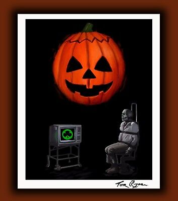 Halloween 3 Season of the Witch Horror Movie Print Signed by Artist Tom Ryan](Halloween Movies 3 Witches)