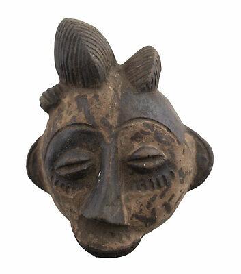 Masquette Terracotta Fetish Miniature Pasport Divination Art African 1156