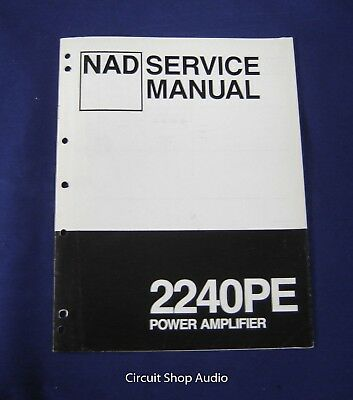 Original NAD 2240PR Power Amplifier Service Manual for sale  Shipping to Canada