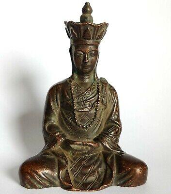 Antique bronze Tibetan Ksitigarbha Buddha Buddhism Bodhisattva statue 9cm
