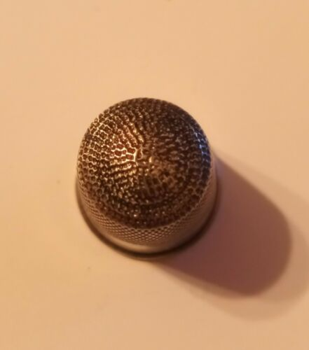 Antique Victorian Sterling Silver Sewing Thimble 11