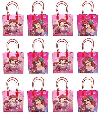 12PCS Disney Little Mermaid Goodie Party Favor Gift Birthday Loot Bags Licensed