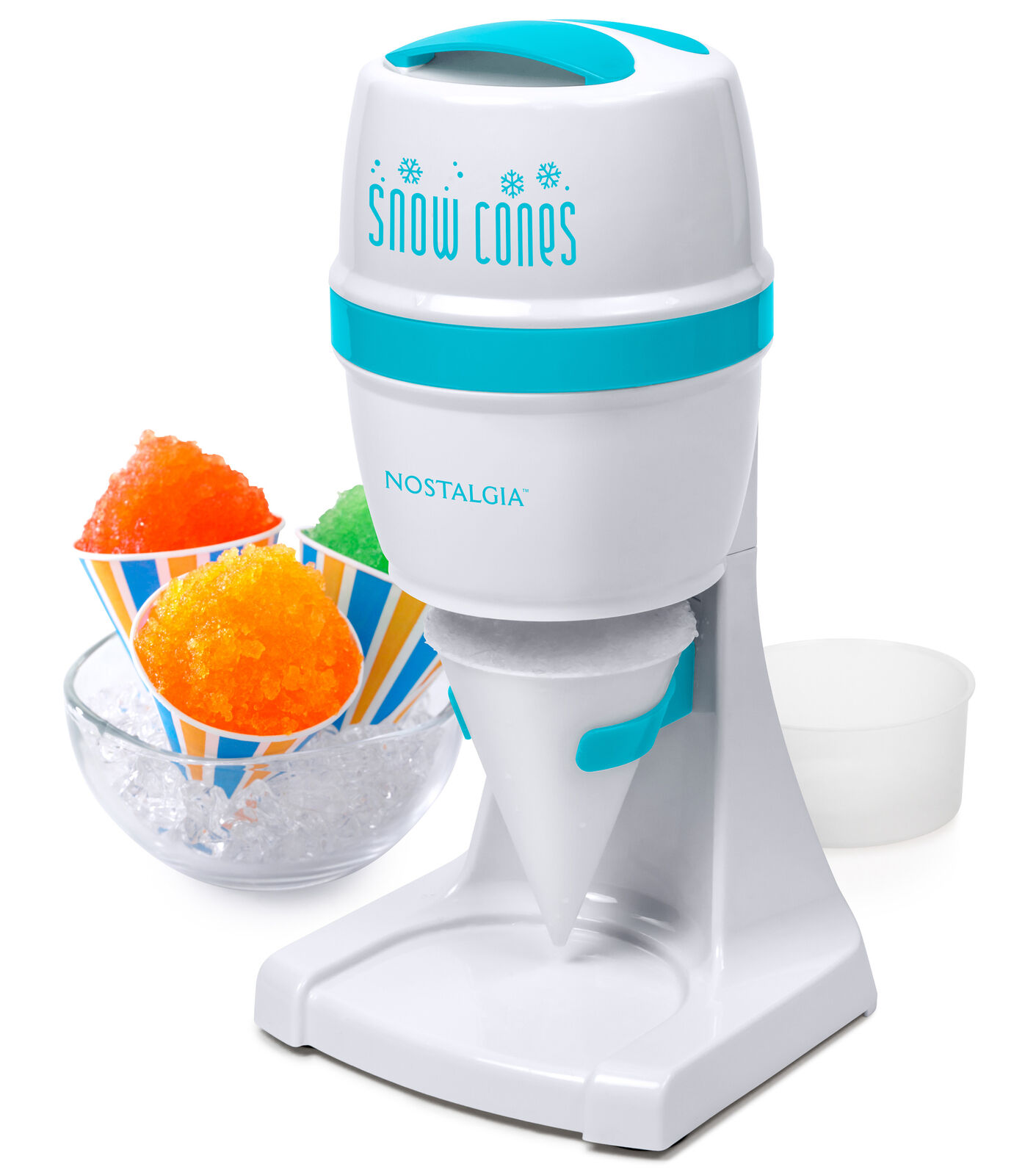 Portable Electric Ice Shaver Machine Snow Cone Maker Shaved