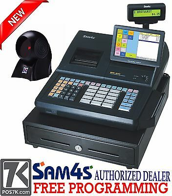 Sam4s Sps-530 Rt 7 Touch Screen Cash Register With Scanner Sps-530rt Pos