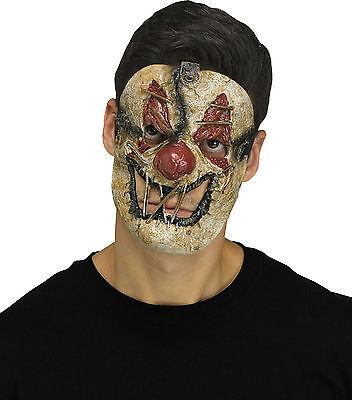 Fun World Killer Clown Creepy Sewn Mouth Horror Halloween Mask - Horror Clown Halloween