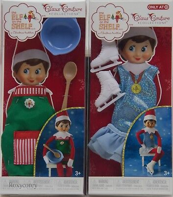 - The Elf on the Shelf Claus Couture Sweet Shop Set & Arctic Ice Skater Outfit