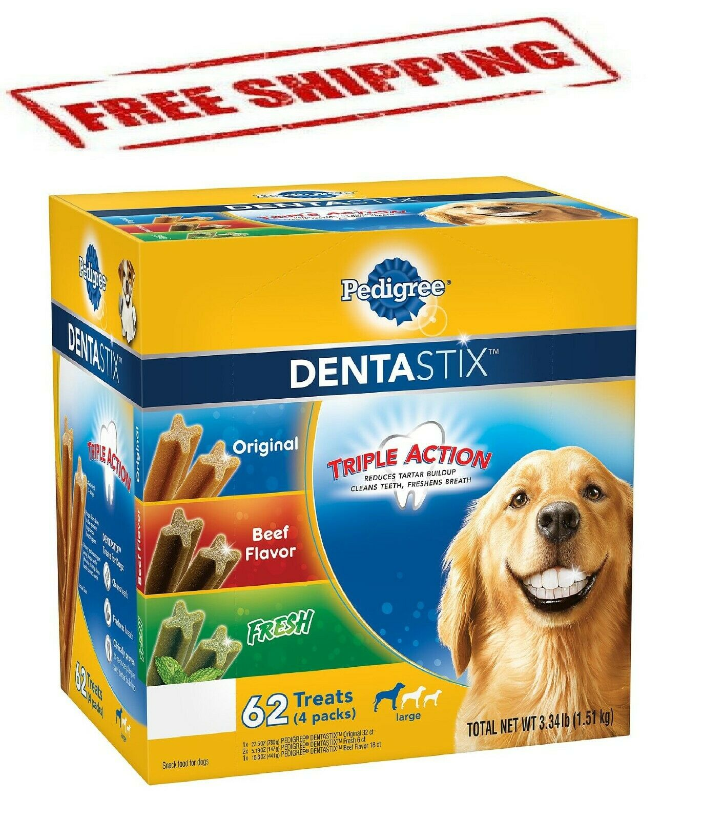 Pedigree DentaStix Dog Treats, Variety Pack
