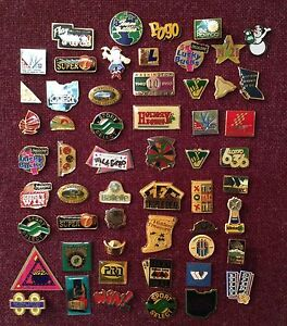 55 lottery themed lapel pins