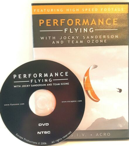 Paragliding DVD Performance flying crucial aspects of Acro, SIV, and XC flying.