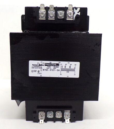 MICRON CONTROL IMPERVITRAN TRANSFORMER, B750-0101-5H, 750VA, 50/60HZ