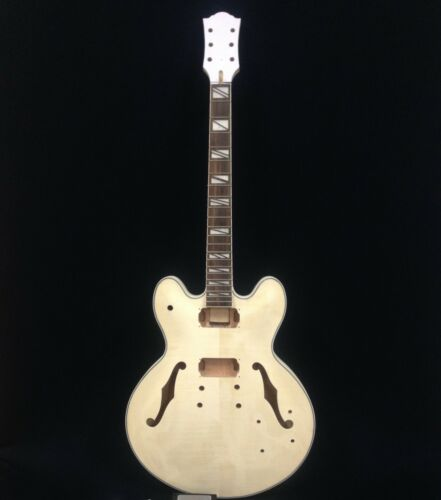 E-272DIY Complete NO-SOLDER,Semi-Hollow Body Electric Guitar DIY Kit+Free Tuner
