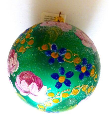 Christopher Radko 1996 FIELD BLOSSOM Christmas Ball Ornament...Italy