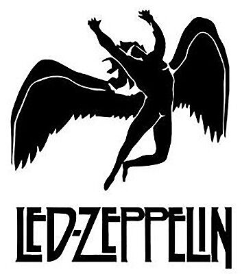 Led Zeppelin Iron On Transfer For T-Shirt & Other Light Color Fabrics #2