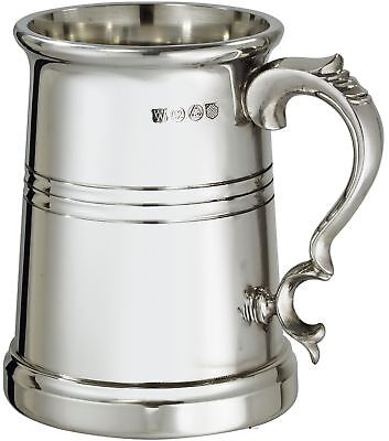 Pewter Extra Heavy Beer Tankard - 1 Pint Vanguard with Flared Rim & Deeply Lined