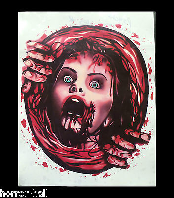 Bloody Horror--PSYCHO VICTIM TOILET COVER STICKER--Halloween Bathroom Decoration](Psycho Halloween Decorations)