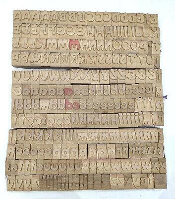 Vintage Letterpress Woodwooden Printing Type Block Typography 239 Pc 34mmdm10