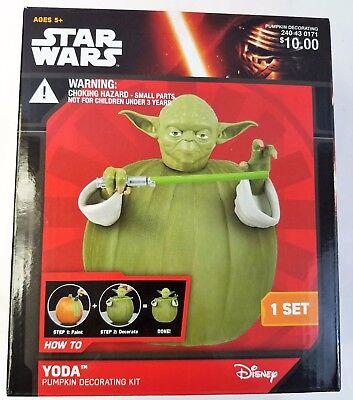 Yoda Pumpkin (Pumpkin Decorating Yoda Star Wars Kit Disney Push Ins Halloween)