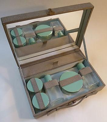 Art Deco Schminkset Schminkkoffer Flakonset Reiseset Parfümset Parfümflakon