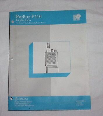 Motorola Radius P110 Portable Radio Dealers Radio Service Software Manual