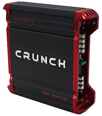 Crunch PZX750.2 750 Watt 2 Channel Powerful Car Audio Amplifier Stereo Amp