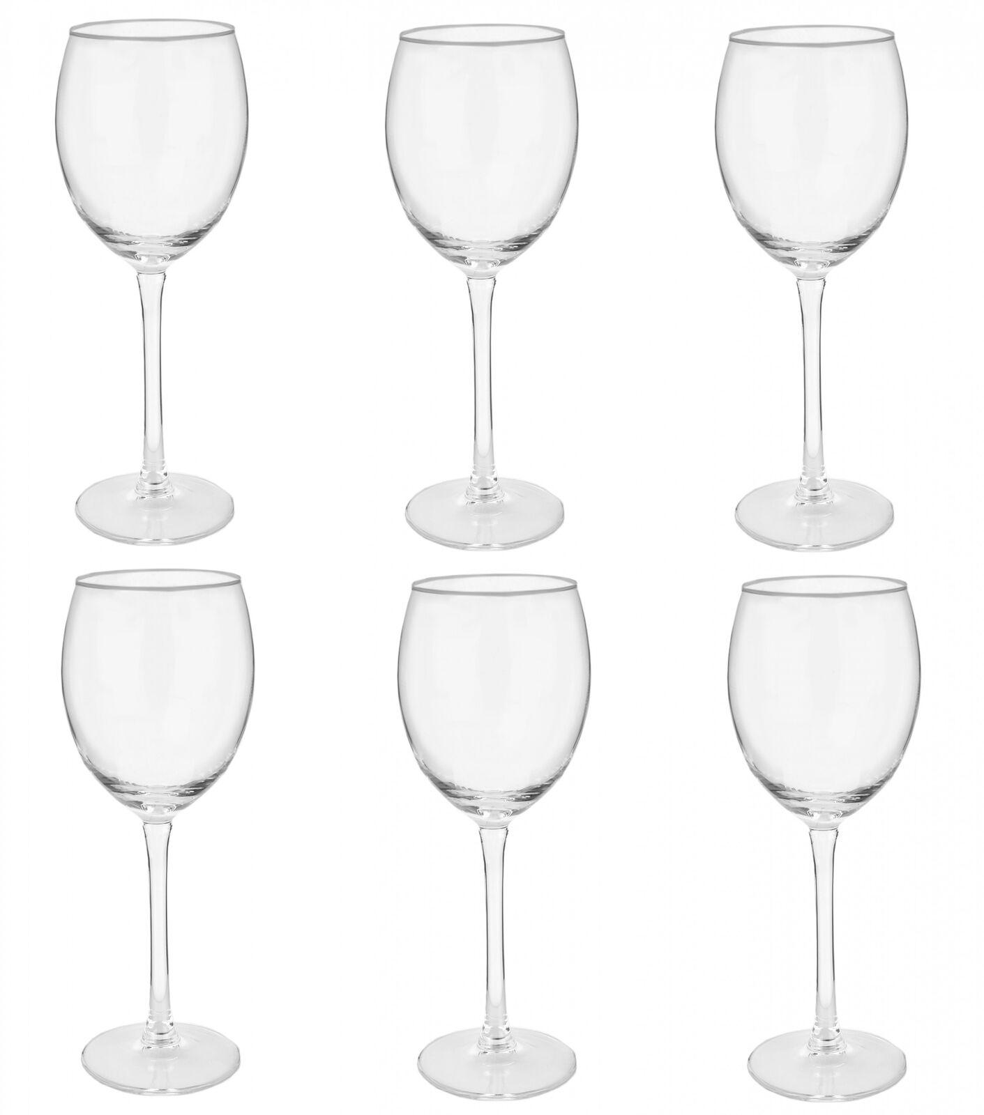 6er Set Weingläser 33cl 330ml Weißweinglas Weinkelch Wein Glas Weißwein Rosé