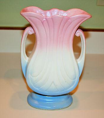"""Vintage Hull Art Pottery 1947 Marde Gras/Granada 9"""" Vase  #48-9"""