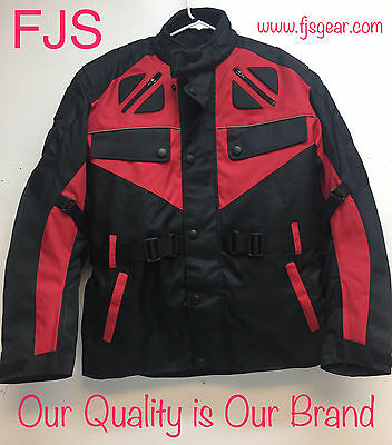 Motorcycle Textile Vented Jacket Reflective Armor CE Motorbike Cordura M-L-XL-2X