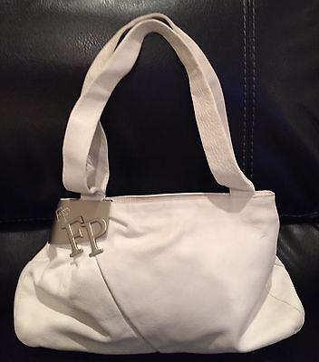 Swarovski White Leather - FABRIZIO POKER WHITE LEATHER SHOULDER BAG, HANDBAG, PURSE W/SWAROVSKI CRYSTALS