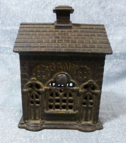 "Antique A.C. Williams ""Double Door"" Cast Iron Still Bank"