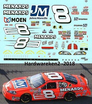 NASCAR DECAL # 8 MENARDS JOHNS MANVILLE 2007 BGN MONTE CARLO DALE EARNHARDT JR.