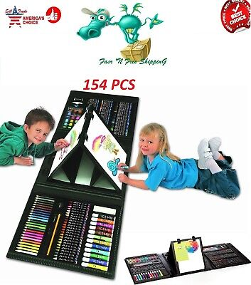 Art Sets For Kids (Art Set For Kids Gifts 154 Piece Supplies Drawing Painting Coloring Trifold)
