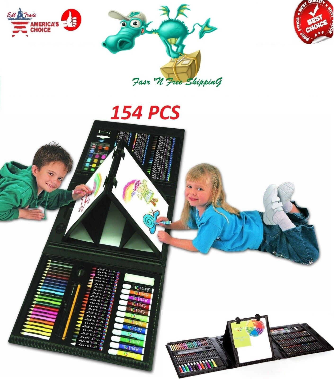 art set for kids gifts 154 piece
