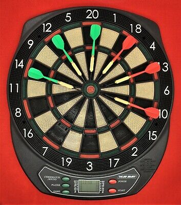 """Viper 800 Soft Tip LCD Electronic Dartboard DARTS 15.5"""" 57 Games 1-16 Player"""
