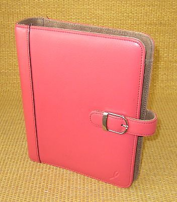 Classicdesk 1.125 Rings Pinkbrown Leather Day-timer Open Plannerbinder