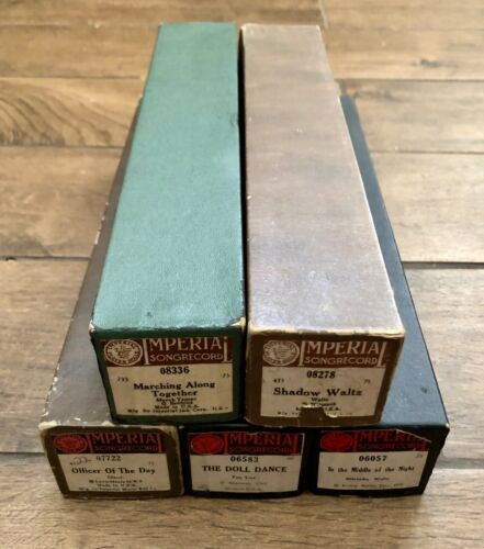 Lot of 5 Imperial Vintage Piano Music Rolls 06057, 06583, 07722, 08278, 08336