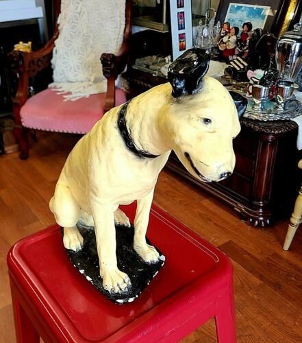 Vintage RCA Victor ~Nipper Dog Statue ~ Chalk Ware~ Circa 1920~40