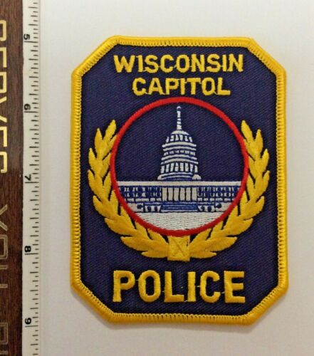 Wisconsin State Capital Police Shoulder Patch New