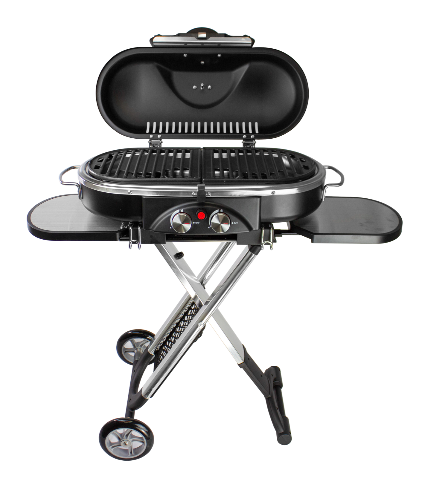 PORTABLE BBQ GRILL FOLDABLE CART CAMPING OUTDOOR PROPANE MAT