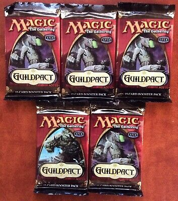 GUILDPACT Lot of 5 Sealed Magic the Gathering Booster Packs (ENGLISH)